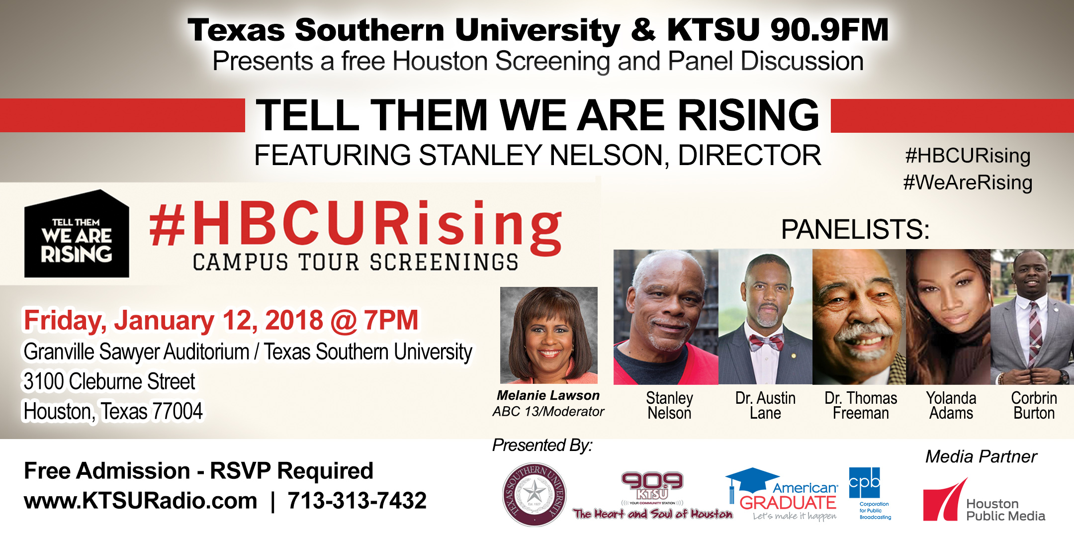 Tell Them We Are Rising Campus Tour TSU
