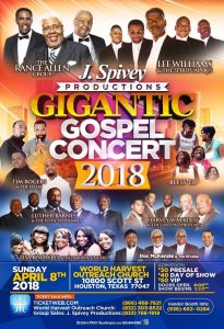 JSpivey Production Gigantic Gospel Concert April 2018