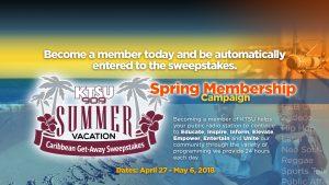 KTSU Spring Membership Campaign