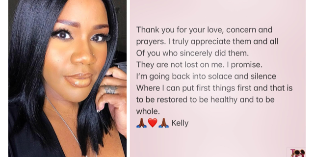 Both photos from official Facebook page of Kelly Price